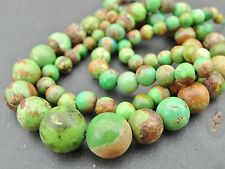 "Natural Verde Turquesa Perlas, tapers de 3,5 mm - 10mm, de 17 "", 84 Beads"