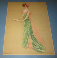 Old Vintage 1909 Antique VICTORIAN PRINT - Lady MUSICIAN - Singer - Maud Stumm