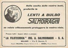 Z0571 Lenti a bulbo La Filotecnica Salmoiraghi - Pubblicità del 1930 - Advertis.