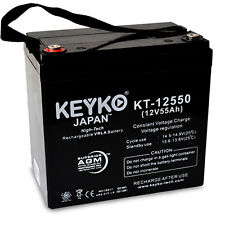 12V 55Ah Sealed Lead Acid Replacement rechargeable Battery KEYKO ® AGM (T3)