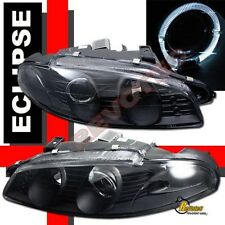 97 98 99 Mitsubishi Eclipse Halo Projector Headlights G2 Black 1 Pair