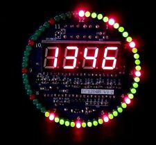 DS1302 Rotating LED Electronic Digital Clock DIY Kit 51 SCM Learning Modul 5V xp