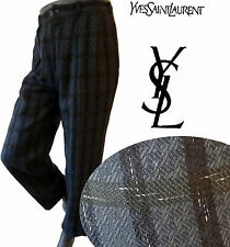 yves saint laurent YSL 31 32 33 dress pant checkered plaid runway jean mens