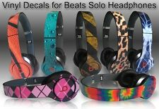 Any 2 Vinyl Skins for Monster Beats by Dr. Dre Solo/Solo HD Skin - Free Shipping