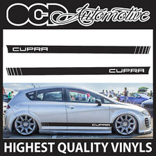 SEAT LEON / IBIZA CUPRA RACING SIDE STRIPES GRAPHICS DECALS STICKER KIT AIRRIDE