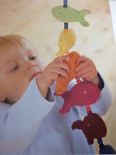 Knitting Pattern -  Fish On The Line Mobile in 6 Colours Of D.K.-Size 8in Long