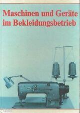 Maschinen und Geräte im Bekleidungsbetrieb   Lehrbuch Maßschneider DDR 1985