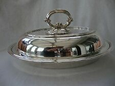 GOOD ANTIQUE ENTRE'S DISH SILVER PLATED EPNS SERVING TUREEN BOWL COVER NO:34075