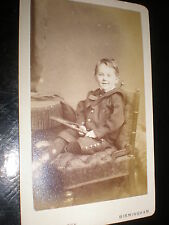 Cdv old photograph boy with whip by Whitlock Birmingham c1880s