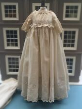 Antique Doll Clothes  Lace Gown Petticoat
