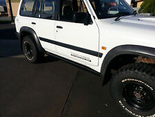 ROCK SLIDERS GU NISSAN PATROL 1,2 & 3 WAGON. EXTRA HEAVY DUTY ROCKSLIDERS/STEPS