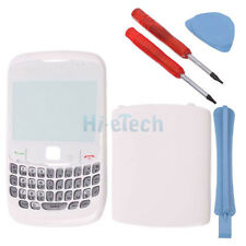 Replacement 4-Piece Housing Cover Case for BlackBerry Curve 8520 8530 White+Tool