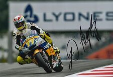 Dominique Aegerter Hand Signed 12x8 Photo Interwetten Kalex 2016 Moto2 MOTOGP.