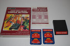 +++ TRIPLE ACTION Intellivision INTV Game CART COMPLETE in BOX Sears Tele-games