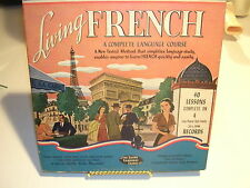 LIVING FRENCH A COMPLETE 40 LESSON LANGUAGE COURSE  4 Albums & 2 Books