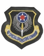 USAF Special Operations Command Full Color Patch On Leather With Fastener
