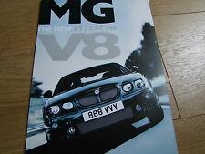 MG ZT & ZT-T 260 4.6 V8 RARE FOLDOUT SALES BROCHURE FROM 2003