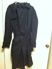 DSCP Garrison Collection Mens All Weather Winter Rain Trench Coat Black  40L