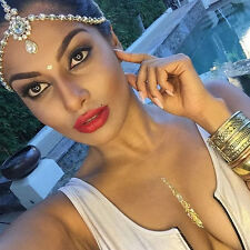 GOLD Wedding Prom Rhinestone Jewelry Head Piece Hair Jewelry Boho Goddess