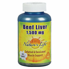 Natures Life Beef Liver 1500 MG - 100 Tablets