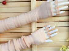 Long Lace UV Sunscreen Protection Sun Block Driving Double Arm Sleeves Glove New