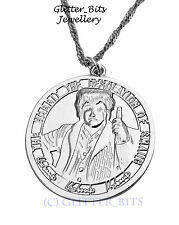 Bilbo Baggins Coin Necklace Pendant Silver HOBBIT LOTR Lord Of The Rings Smaug