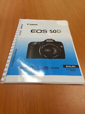 CANON  EOS 50D FULL USER GUIDE INSTRUCTION MANUAL  PRINTED 224 PAGES