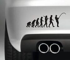 FISHERMAN EVOLUTION  FUNNY FISHING BAIT BOAT HOBBIES CAR WINDOW STICKER