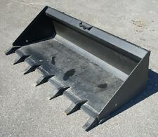 """Bobcat Case CAT Skid Steer Attachment 74"""" Low Profile Tooth Bucket - Ship $199"""