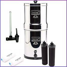 Royal Berkey Water Filter w 2 Black and 2 PF2 Filters plus Water Level Spigot