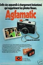 Publicité advertising 1972 Agfamatic Appareil Photo Agfa
