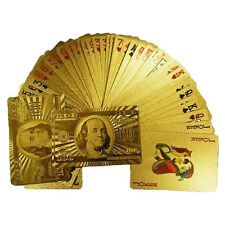 Gold Golden Foil Plated Gift Playing Cards Game Poker Deck Collection New
