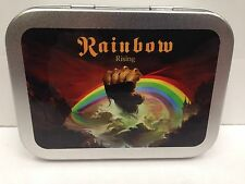 Rainbow Rock Band Music Classic Dio Cigarette Tobacco Storage 2oz Hinged Tin