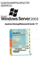 MS Windows 2003 Server 5 Device CAL deutsch (Geräte) neu für Server 2003 R1+R2