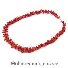 Sardegna Ast Korallen Halskette Collier 50er Jahre coral necklace 50s rot