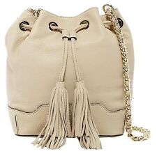 *SALE* NEW Rebecca Minkoff Lexi Bucket Bag Khaki Beige Gold Chain Tassels, $375