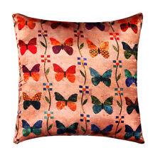 Beige papillon impression numérique soie satin Peluche Coussin Couverture Canapé Lit 16 x 16