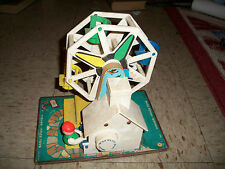 Vintage Fisher Price Little People Music Box Ferris Wheel #969-Works 1966