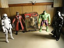 STAR WARS QUI-GON JINN , DARK VADER, STROM TROOPER, STAR LOARD, HULK 12IN.