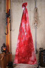 Life Size Human Body in Bloody Bag Gory Haunted House Halloween Party Prop 6'