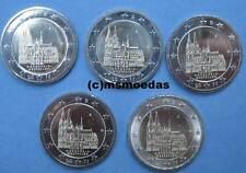 Deutschland BRD 5 x 2 Euro Gedenkmünzen 2011 ADFGJ Kölner Dom NRW commemorative