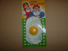 1 Rubber Fake Fried Egg. Reusable.Simply the best.Free post to UK addresses only