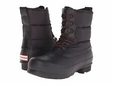 Hunter Quilted Short Lace Up Snow Boots Black Shoes Women Size 5