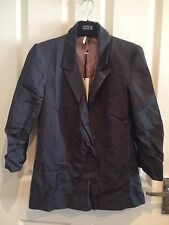 Topshop Limited Collection Charcoal Double Breasted Blazer UK10 New With Tags