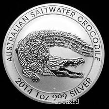 Australia 2014 Salt Water Crocodile (Aminal Series) Silver .999 1oz (UNC)