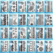 24 sheets/lot Henna lace temp tattoo black Tattoo Sticker wholesale