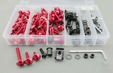 Universal Bolt MC Sportbike Track Pack For HAYABUSA ZX14R ZX10R R1 R6 S Red