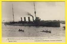 """cpa BELGIQUE ANVERS Fêtes 1912 NAVIRE de GUERRE ANGLAIS Croiseur """"GLOUCESTER"""""""