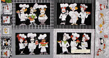 Loralie Chef Fabric - Place Mat Panel Cook Whats Cookin Kitchen - TRIMMED PANEL