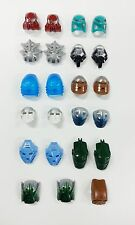 Lego Bionicle Masks/Head Hero Factory Lot of 23 Figures with Bonus 5 weapons